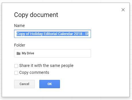 holiday content calendar